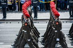 Défilé militaire pour le Jour de la Déclaration d'Indépendance ukrainien Image stock