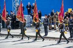 Défilé militaire pour le Jour de la Déclaration d'Indépendance ukrainien Photographie stock