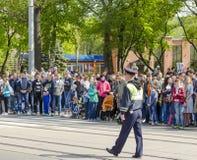 Défilé militaire pour le soixante-dixième anniversaire de la victoire plus de FLB Photo libre de droits