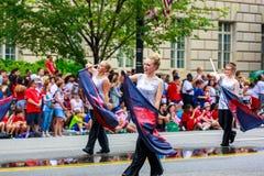 Défilé national 2015 de Jour de la Déclaration d'Indépendance Images libres de droits