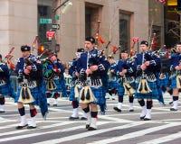 Défilé NYC de jour de St Patricks Images libres de droits