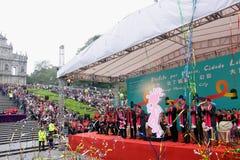 Défilé par le Macao, ville latine 2012 Images stock