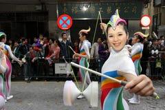 Défilé par le Macao, ville latine 2012 Images libres de droits