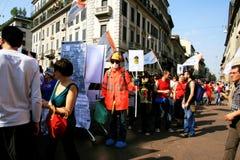 Défilé politique de jour de libération. Milan, Italie Image libre de droits