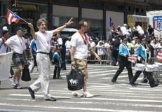 Défilé portoricain de jour ; NYC 2012 photos libres de droits