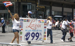 Défilé portoricain de jour ; NYC 2012 Image stock