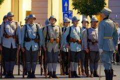 Défilé roumain d'armée à Bucarest, Roumanie Photo libre de droits