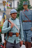 Défilé roumain d'armée à Bucarest, Roumanie Image libre de droits