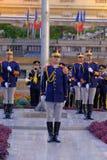 Défilé roumain d'armée à Bucarest, Roumanie Photographie stock libre de droits