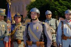 Défilé roumain d'armée à Bucarest, Roumanie Images stock