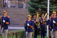 Défilé roumain d'armée à Bucarest, Roumanie Images libres de droits