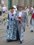 Défilé suisse de jour national à Zurich Image stock
