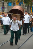 Défilé suisse de jour national à Zurich Photos libres de droits