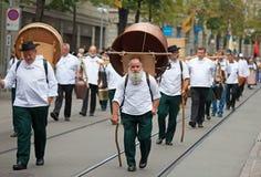 Défilé suisse de jour national à Zurich Photographie stock