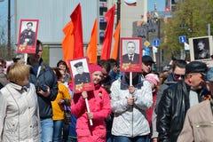 Défilé sur Victory Day le 9 mai 2016 Régiment de Bezsmertny T Photos stock