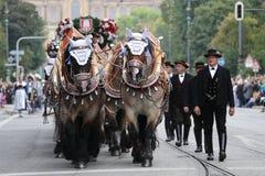Défilé traditionnel de costume en Bavière de Munich Image stock