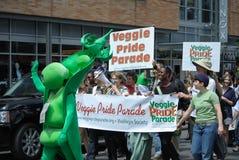 Défilé végétarien de fierté image libre de droits