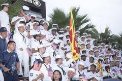 19 11 2017 défilés 2017 navals et internationaux internationaux d'anniversaire du ` s 50 d'ASEAN d'examen de flotte à Pattaya, Th Image libre de droits