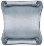 Défilement antique blanc gris Images stock