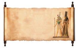 Défilement avec le papyrus égyptien Image libre de droits