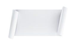 Défilement blanc illustration stock