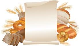 Défilement de boulangerie Photo stock