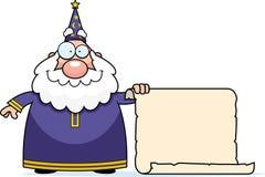 Défilement de magicien illustration stock