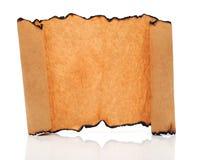 Défilement de papier de cru photo libre de droits