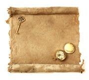 Défilement de papier fabriqué à la main Images libres de droits