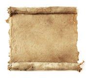 Défilement de papier fabriqué à la main Image libre de droits