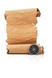 Défilement de papier fabriqué à la main photographie stock libre de droits