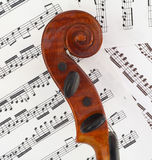 Défilement de profil de violon Photographie stock libre de droits