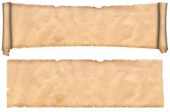 Défilement et feuille de vieux papier. Photographie stock libre de droits