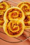Défilements cuits au four de jambon Image stock