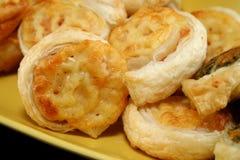Défilements de fromage et de jambon Photos libres de droits