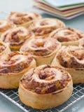 Défilements de pain de pizza Images libres de droits