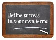 Définissez le succès en vos propres termes image stock