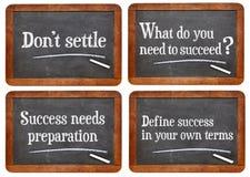 Définissez le succès en vos propres termes Photos libres de droits