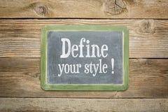 Définissez votre style Images stock