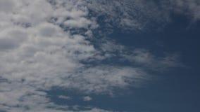 Définition élevée de laps de temps de ciel nuageux d'été banque de vidéos