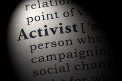 Définition d'activiste image libre de droits