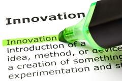Définition d'innovation image libre de droits