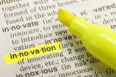 Définition d'innovation image stock