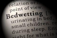 Définition de Bedwetting Image libre de droits
