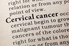 Définition de cancer du col de l'utérus images stock