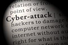 Définition de cyber-attaque Photographie stock libre de droits