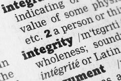 Définition de dictionnaire d'intégrité Images libres de droits
