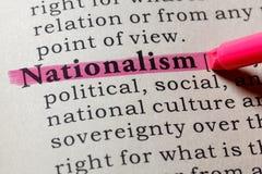 Définition de dictionnaire du nationalisme de mot photos libres de droits