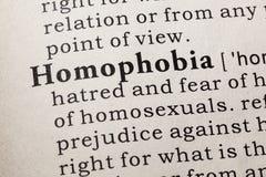Définition de homophobie Image libre de droits
