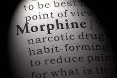 Définition de morphine photos libres de droits